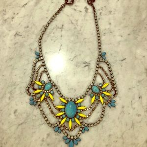 Jewelry - Turquoise and Rhinestone Necklace